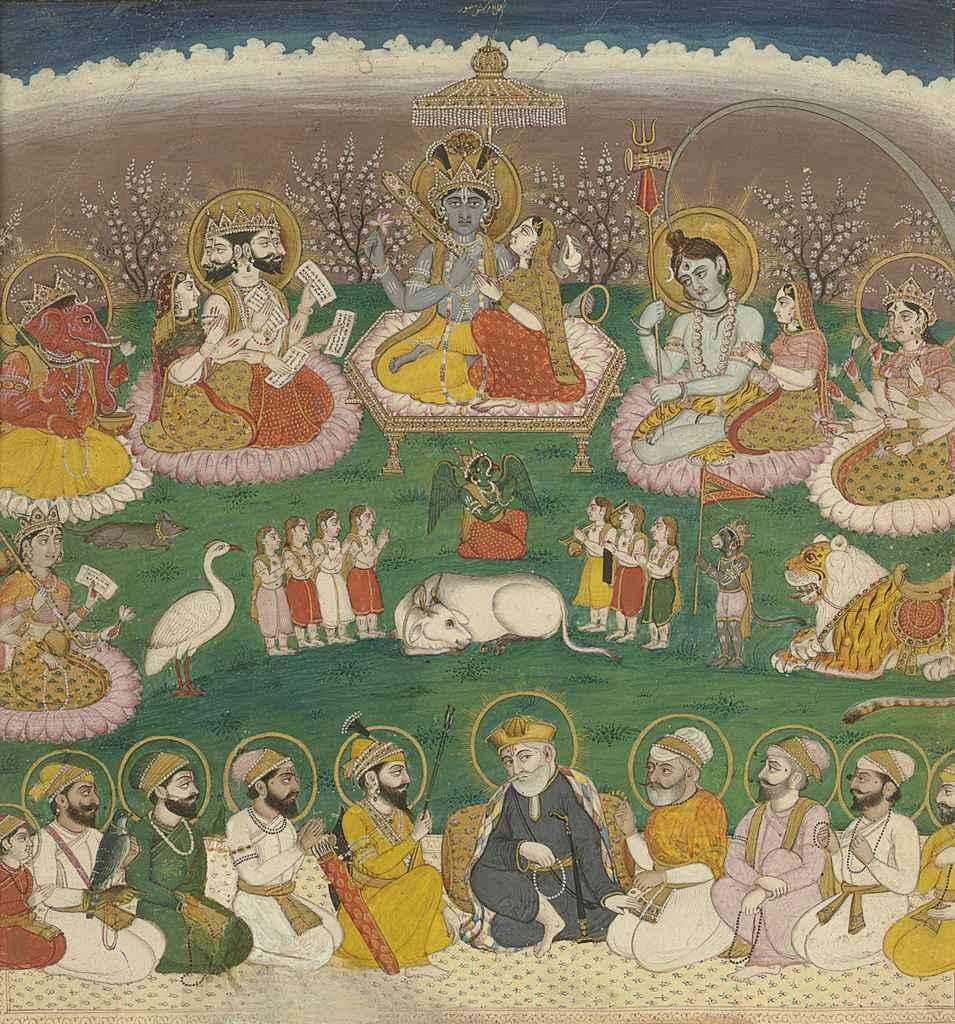 sikh gurus and hindu gods