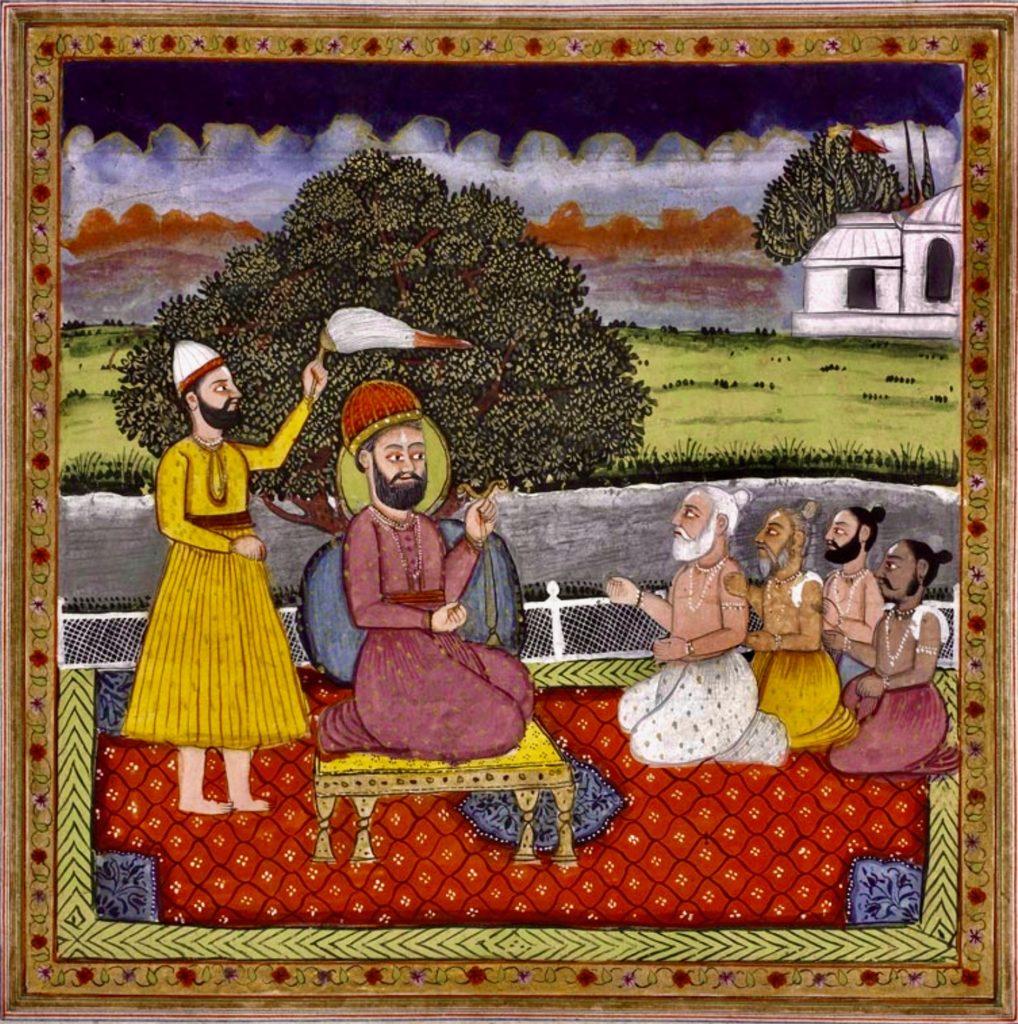 guru nanak with hindus